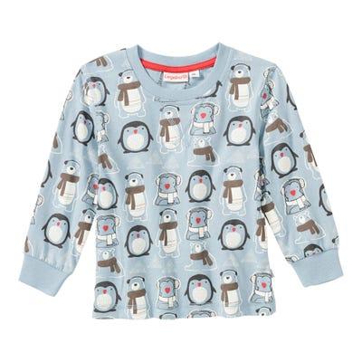 Baby-Jungen-Shirt mit Winter-Muster