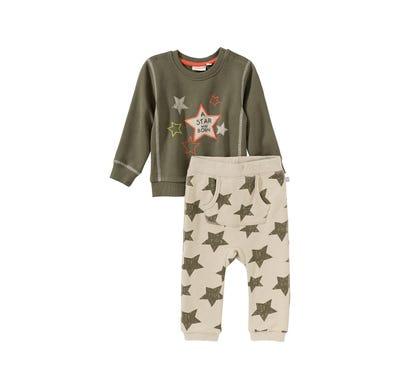Baby-Jungen-Set mit Sternenmuster, 2-teilig