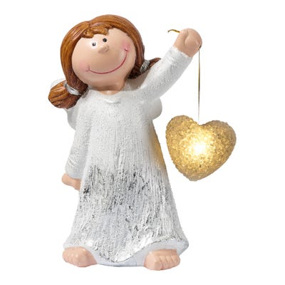 Engel mit strahlendem LED-Licht