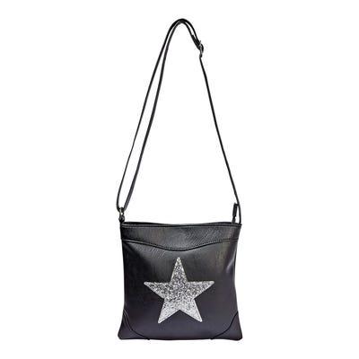 Damen-Handtasche mit Sternen-Applikation