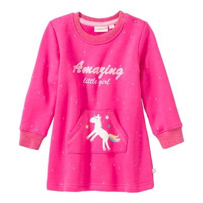 Baby-Mädchen-Kleid mit Känguru-Tasche