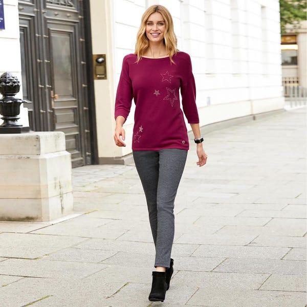 Damen-Hose mit elastischem Bund