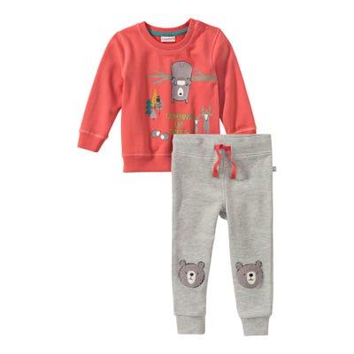 Baby-Jungen-Set mit Bären-Applikationen, 2-teilig
