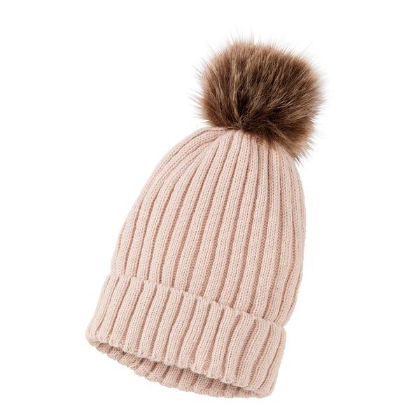 Damen-Mütze mit Bommel
