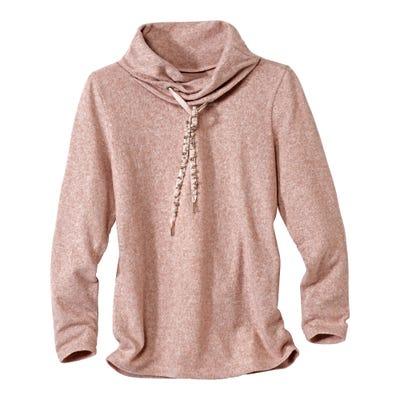 Damen-Sweatshirt mit traumhaftem Perlenbesatz