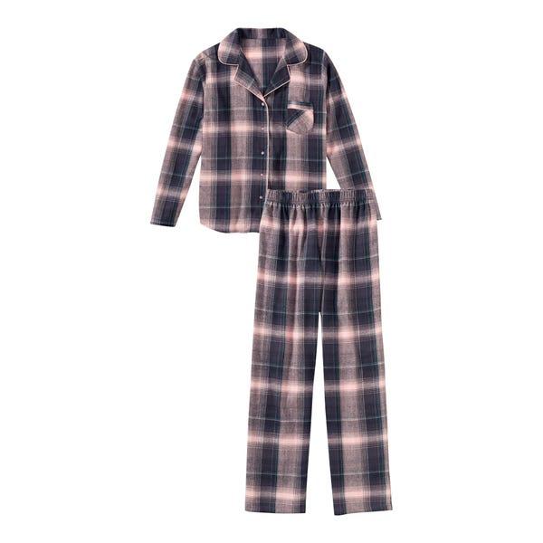 Damen-Schlafanzug mit Karomuster, 2-teilig