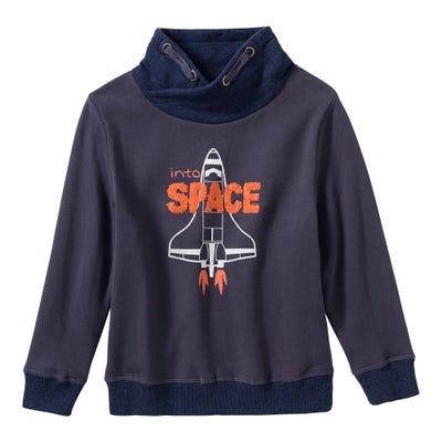 Jungen-Sweatshirt mit Spaceshuttle-Frontaufdruck
