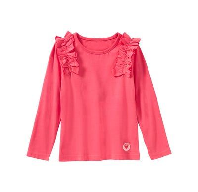 Mädchen-Shirt mit hübschen Rüschen