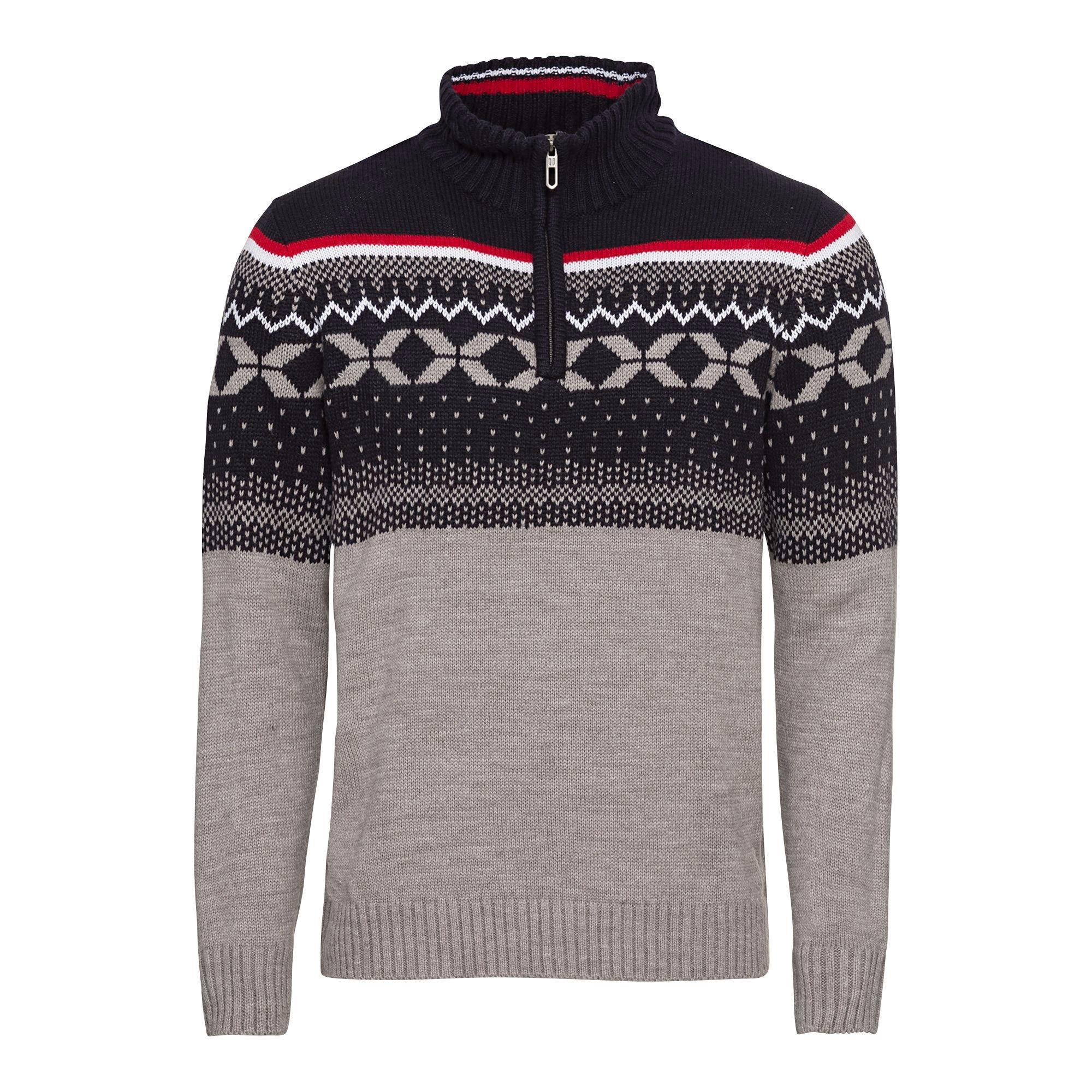 Herren Pullover mit Norweger Muster