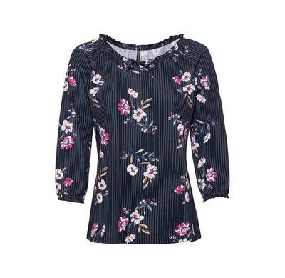 Damen-Shirt mit verschiedenen Mustern
