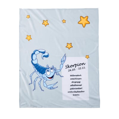 Kuscheldecke in verschiedenen Sternzeichen-Designs, ca. 130x170cm
