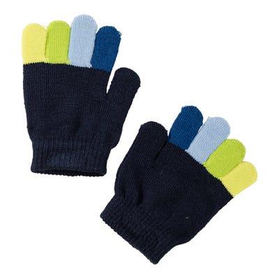 Jungen-Handschuhe mit bunten Fingern