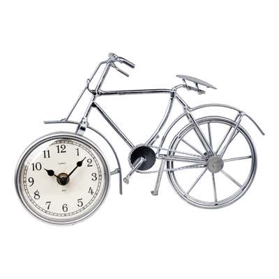 Deko-Fahrrad mit eingebauter Uhr, ca. 29x9x19cm