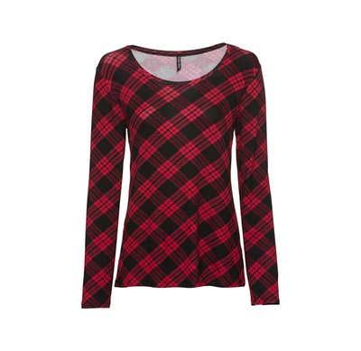 Damen-Shirt mit Karodesign