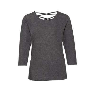 Damen-Sweatshirt mit Rücken-Schnürung