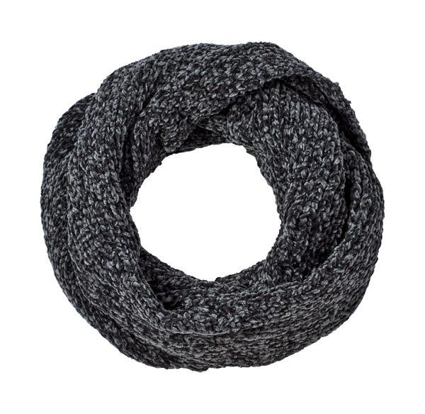 Damen-Loop-Schal aus samtigem Chenille