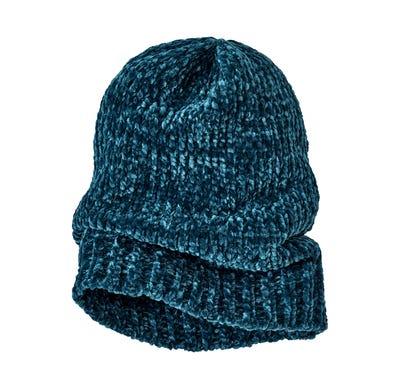 Damen-Mütze aus samtigem Chenille