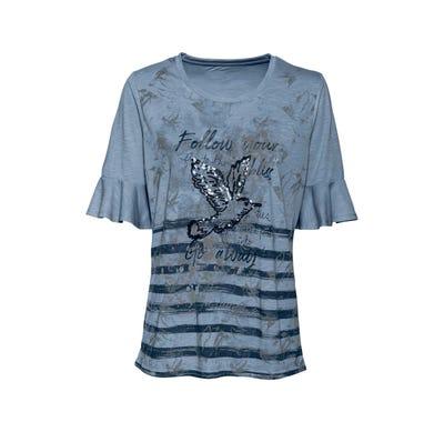 Damen-T-Shirt mit Pailletten-Applikation