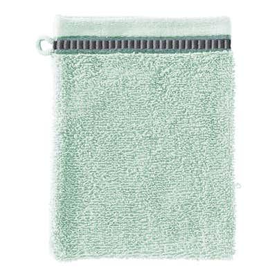 Waschhandschuh mit hübscher Bordüre, 16x21cm