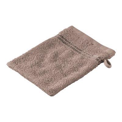 Waschhandschuh mit glänzender Bordüre, 16x21cm