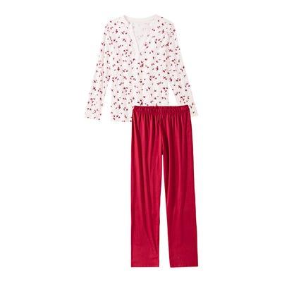 Damen-Schlafanzug mit Vogelmuster, 2-teilig