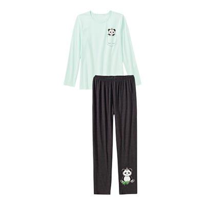 Mädchen-Schlafanzug mit Panda-Aufdruck, 2-teilig