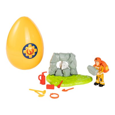 Feuerwehrmann Sam Rettungsset im Ei, ca. 14cm