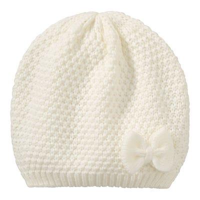 Mädchen-Mütze mit Zierschleife