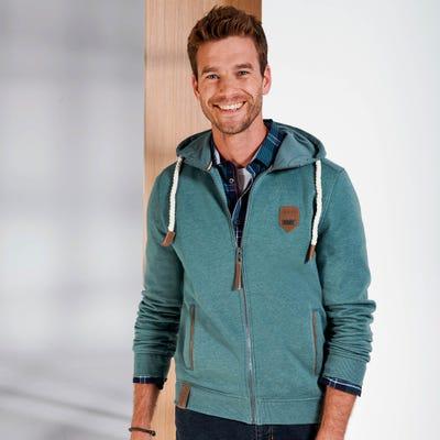 Herren-Sweatshirt mit warmer Kapuze