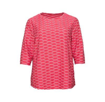 Damen-Shirt mit Struktur-Muster, große Größen