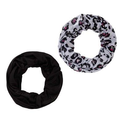 Damen-Loop-Schal mit Leo-Muster, 2er Pack
