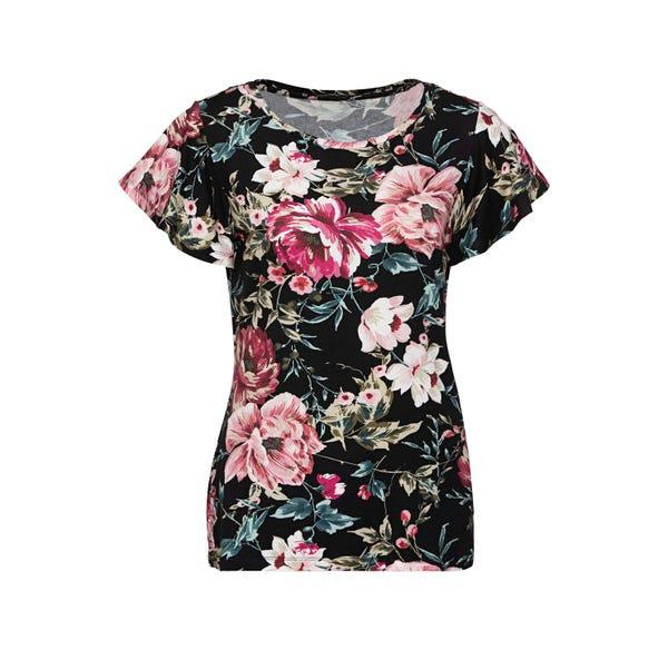 Damen-T-Shirt mit Flügelärmeln
