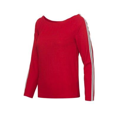 Damen-Shirt mit Kontrast-Streifen