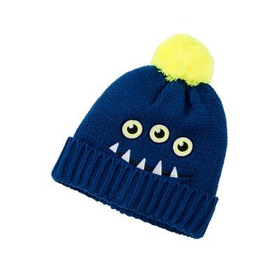 Kinder-Mütze mit aufgesticktem Gesicht
