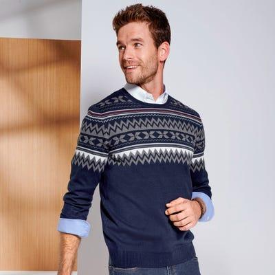 Herren-Pullover im Norweger-Stil