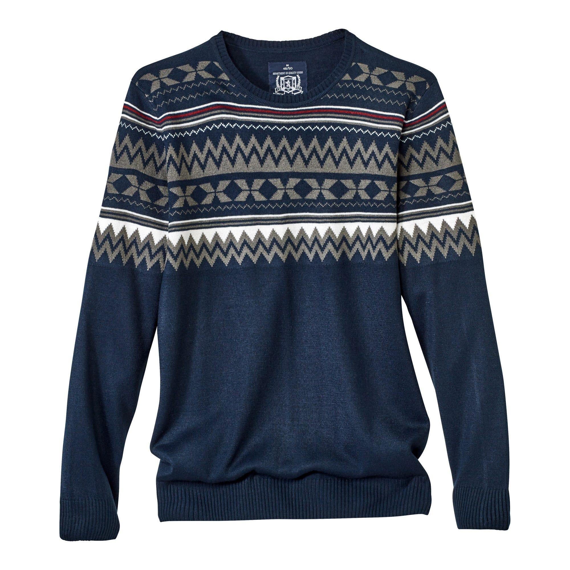 Herren Pullover im Norweger Stil
