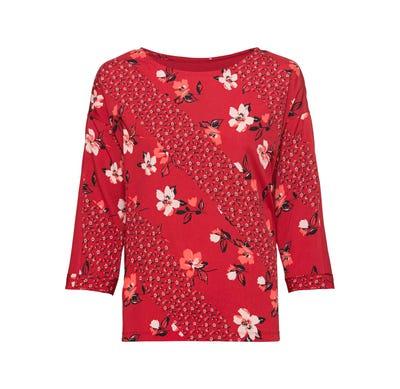 Damen-Shirt mit Blumen-Motiv