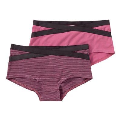 Mädchen-Panty mit Ringelmuster, 2er Pack