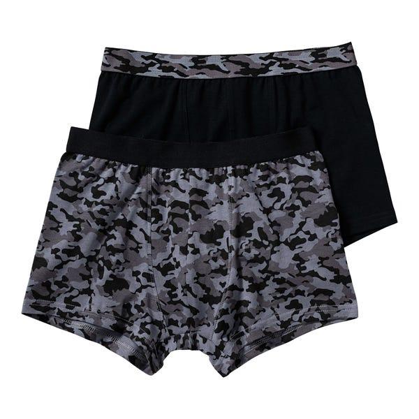 Jungen-Retroshorts mit Camouflage-Muster, 2er Pack
