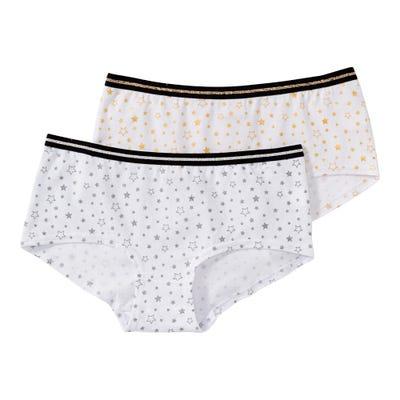 Mädchen-Panty mit Glitzersternen, 2er Pack