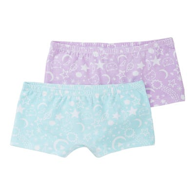 Mädchen-Panty mit Sternenmuster, 2er Pack