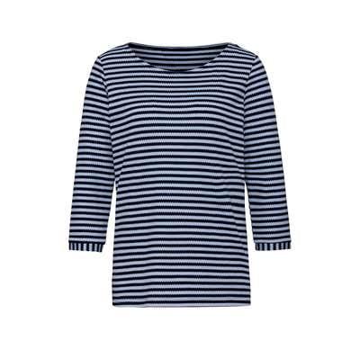 Damen-Shirt mit modernem Ringelmuster
