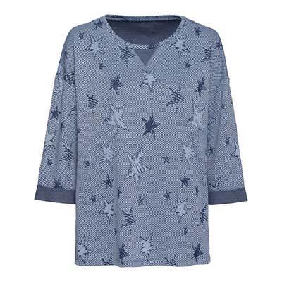 Damen-Sweatshirt mit Sternenmuster