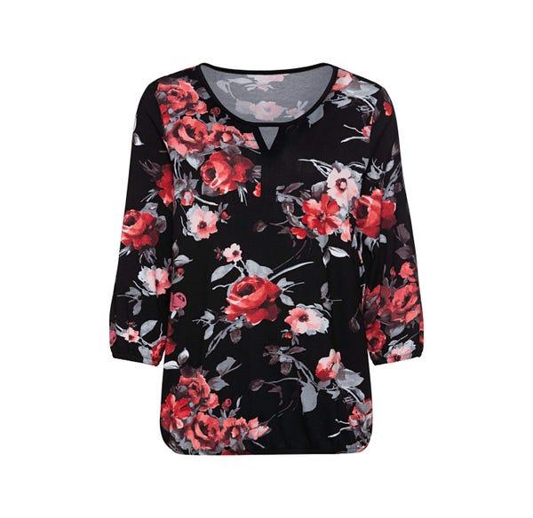 Damen-Shirt mit hübschem Ausschnitt