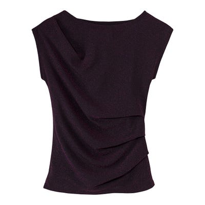 Damen-T-Shirt mit überschnittener Schulter