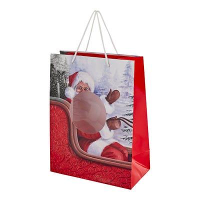 Geschenktüte mit Weihnachtsmotiven, ca. 25x33x13cm
