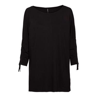 Damen-Shirt mit Raffung am Ärmeln