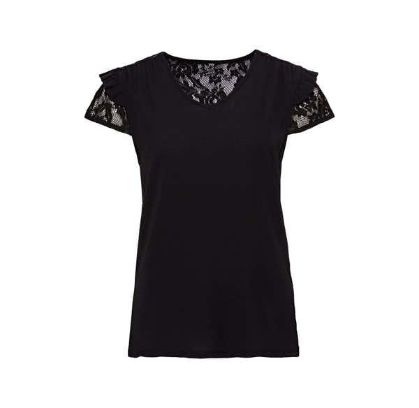 Damen-T-Shirt mit wunderschöner Spitze