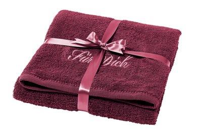 Duschtuch mit schönem Geschenkband, ca. 70x140cm