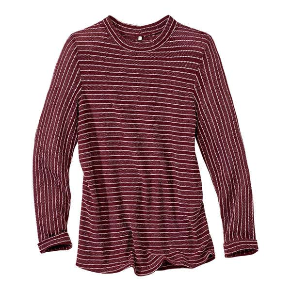 Damen-Pullover mit modischen Streifen
